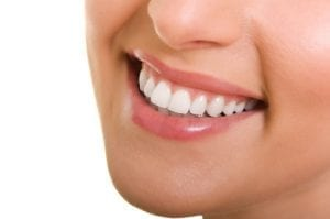 close-up of a white smile